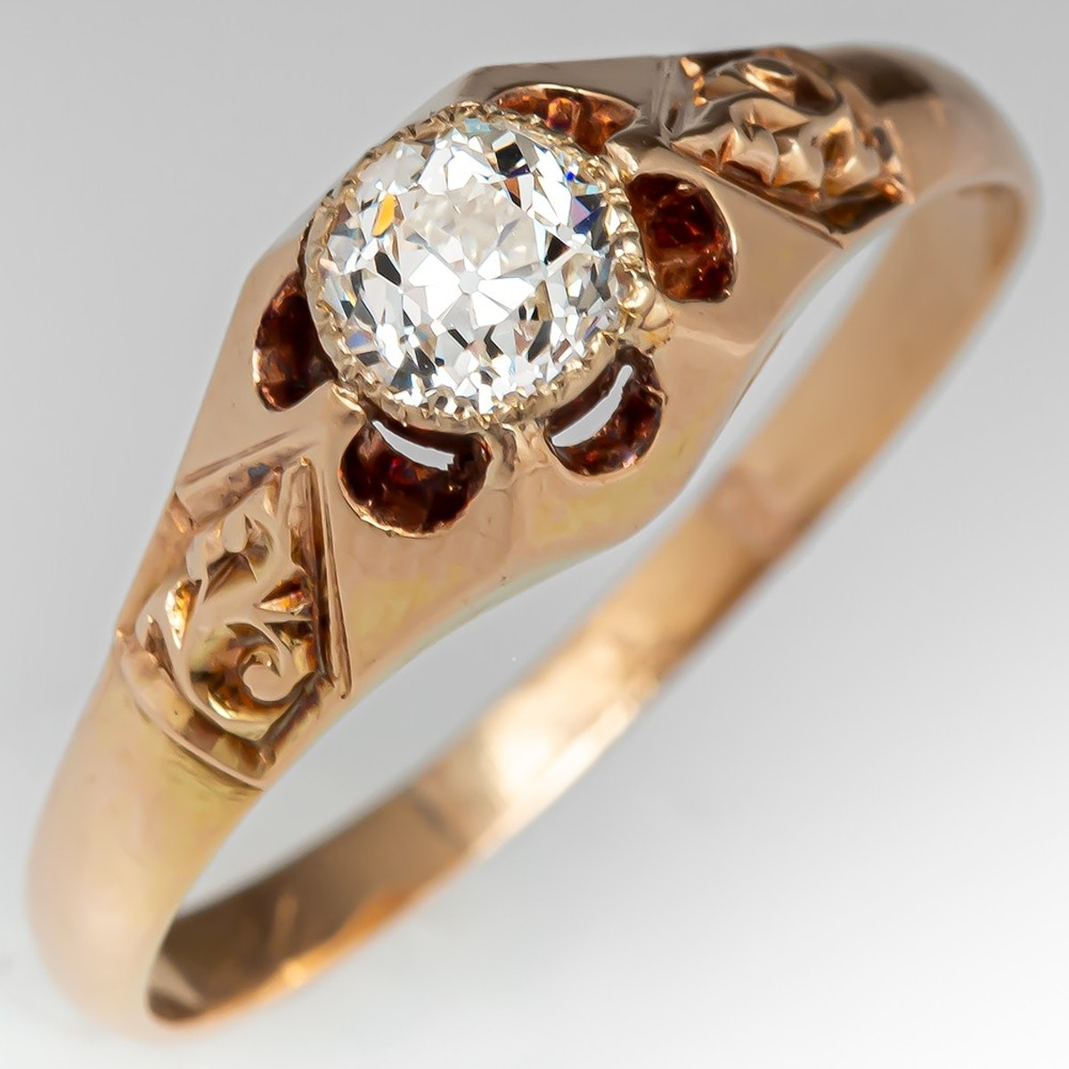 1900 Antique Diamond Solitaire Engagement Ring