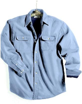 TRM Cotton Tahoe Stonewashed Fleece Denim Shirt Jacket