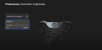 A screenshot from Tom Warren's demonstration video of Xbox's new night mode feature
