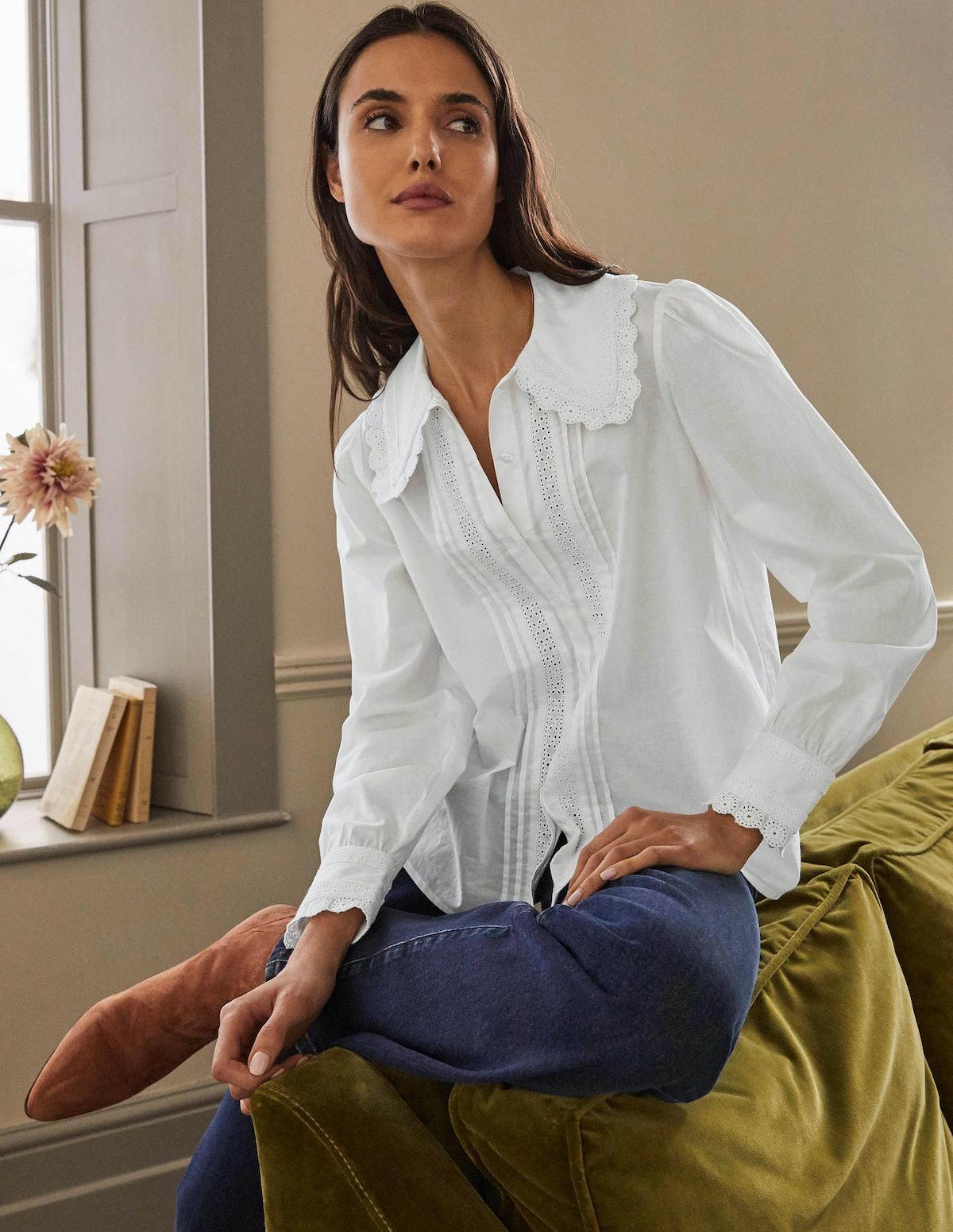 Boden Clare Broderie Shirt