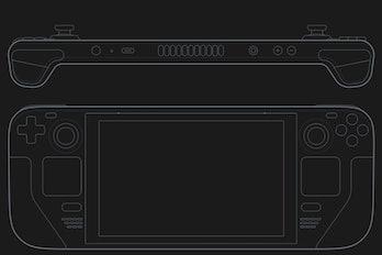 Steam Deck promo outline illustration image
