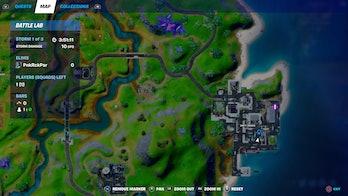 fortnite armored batman location map