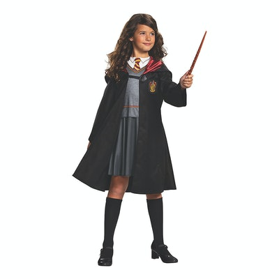 """Young girl wearing costume to look like Hermione from """"Harry Potter"""""""