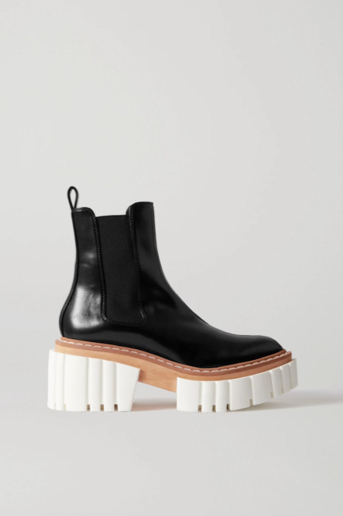 Stella McCartney's Emilie Leather Platform Chelsea Boots.