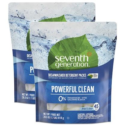 Seventh Generation Fragrance-Free Dishwasher Pods (2-Pack, 45 Count)