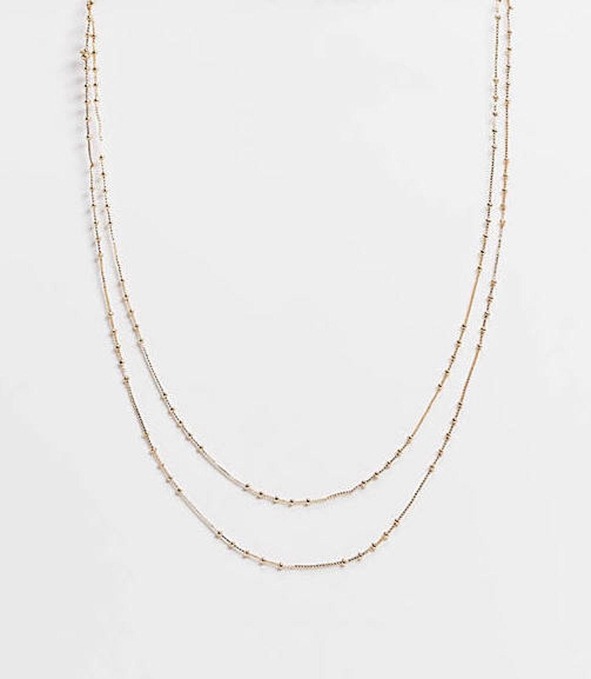 ASOS Dot Dash Gold Necklaces