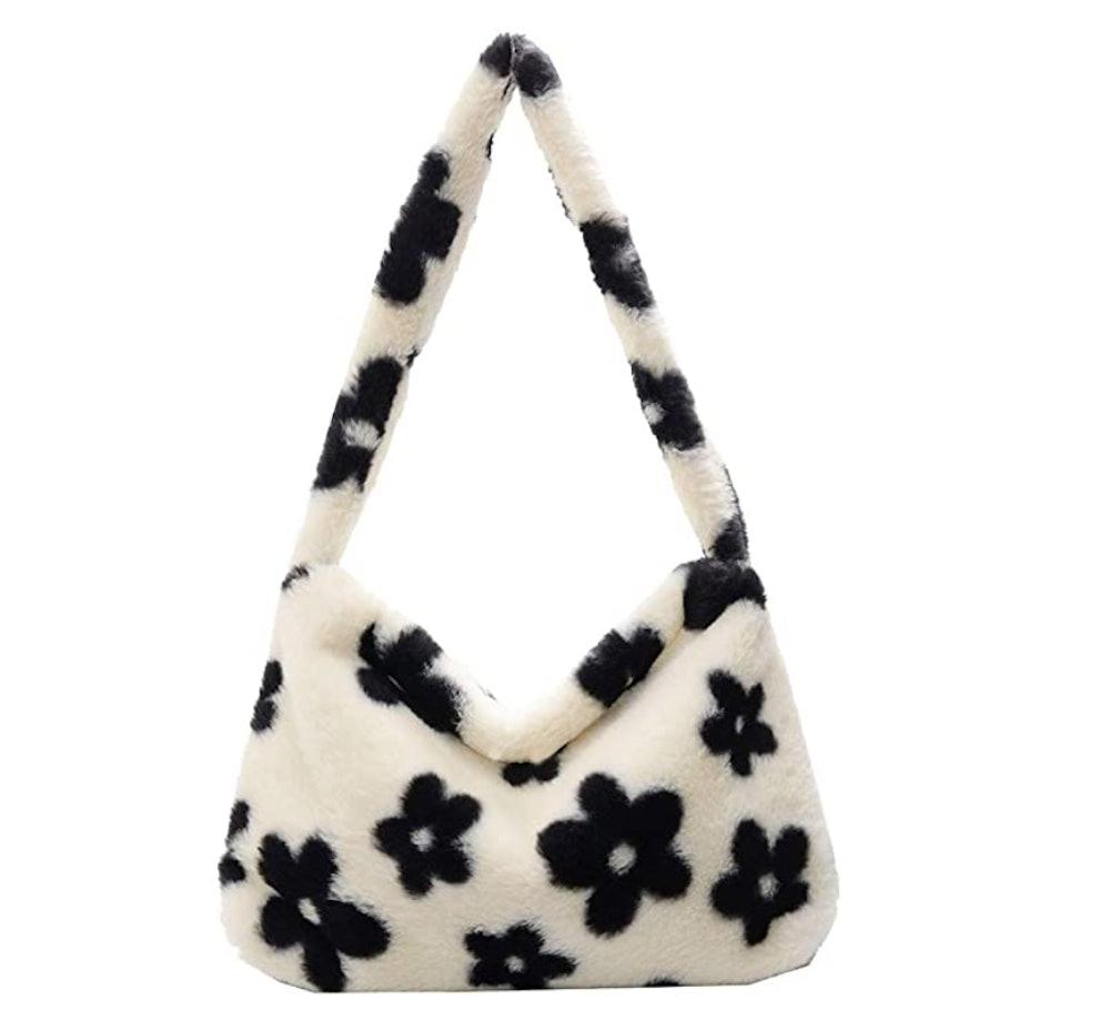 Plush Animal Pattern Underarm Bag