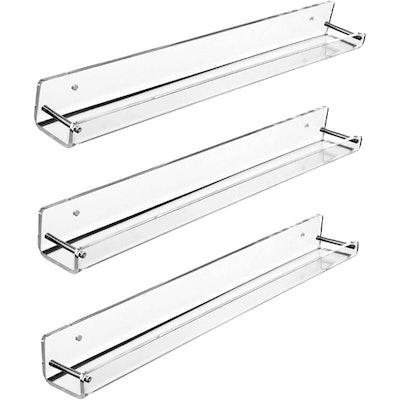 AMT Acrylic Floating Shelves (3-Pack)