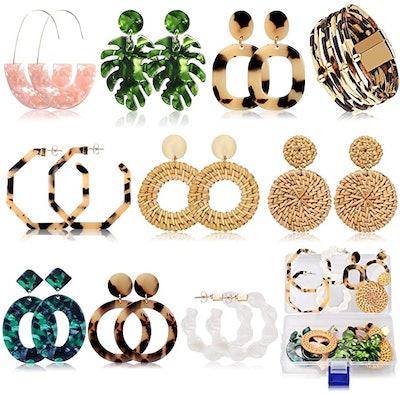 FIFATA Acrylic Dangle Earrings