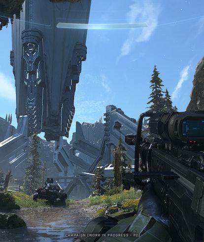 A screenshot from Halo Infinite