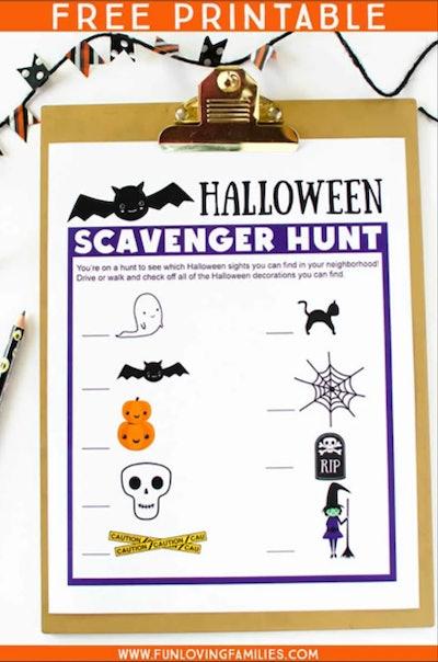 Halloween Scavenger Hunt In Pictures