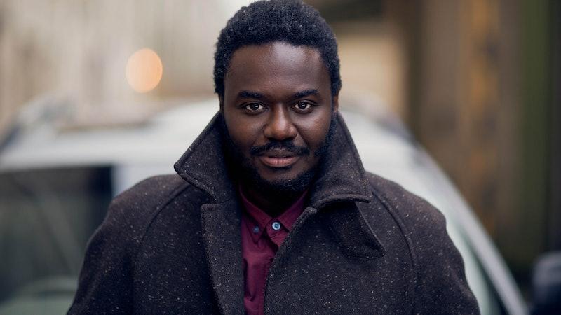 Babou Ceesay as Professor Wolfe Kinteh in Sky's Wolfe