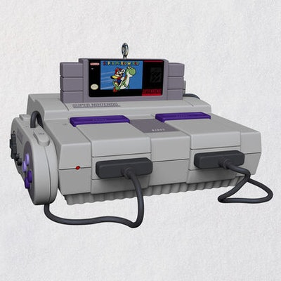 Super Nintendo Entertainment System™ Console Ornament With Light and Sound