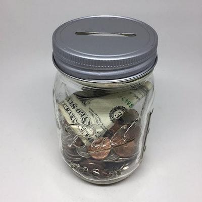 Ball Slotted Lid Mason Jar Piggy Bank