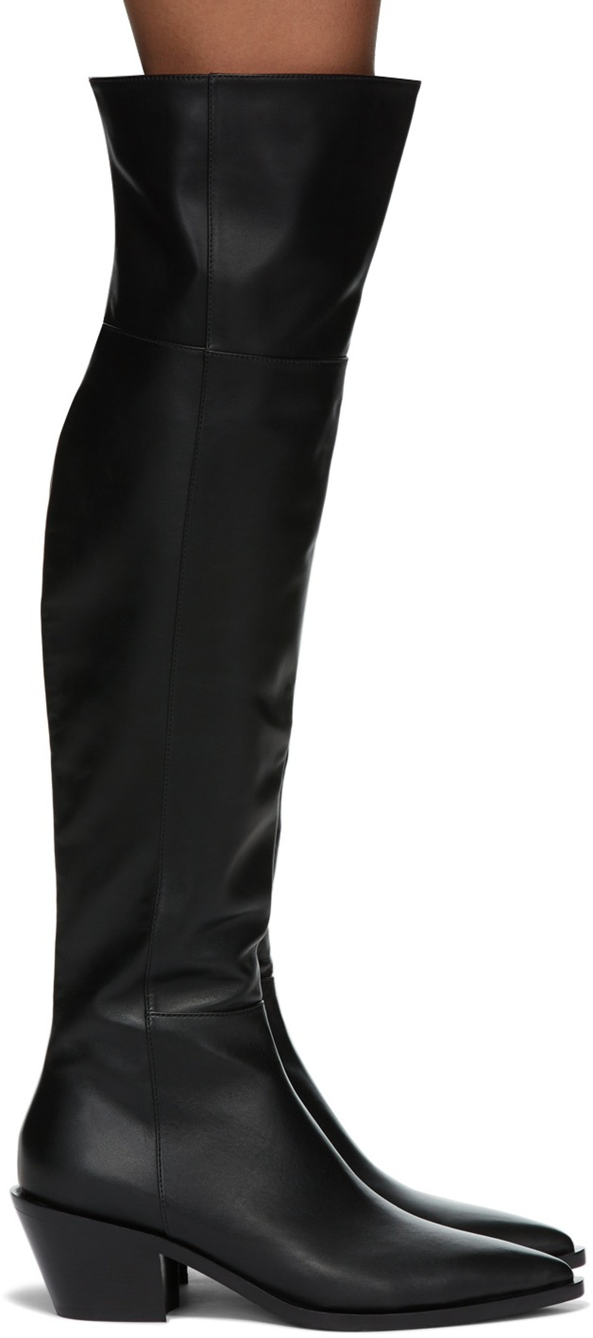 Black Over-The-Knee Boots from Gianvito Rossi, available to shop on SSENSE.