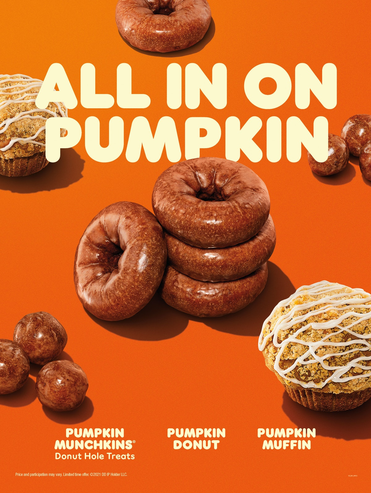 Dunkin's Pumpkin Spice Latte and fall menu debut on Aug. 18.
