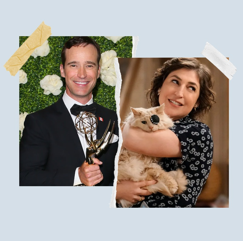Jeopardy! hosts Mike Richards and  Mayim Bialik.