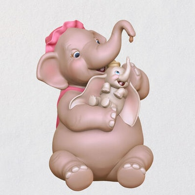 Disney Dumbo Mother and Child Porcelain Ornament