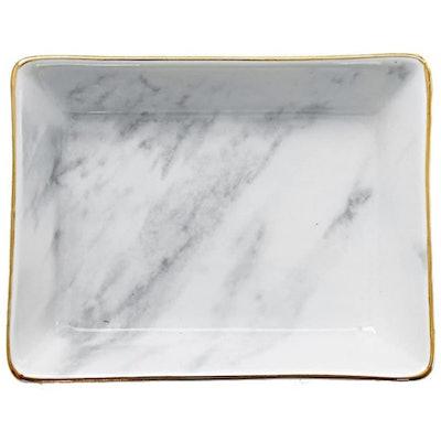 SOCOSY Marble Ceramic Jewelry Dish