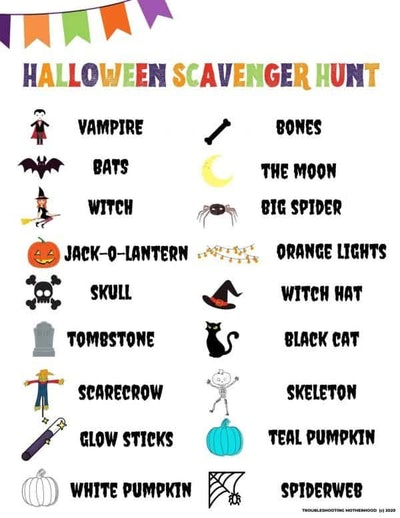 Fun Halloween Scavenger Hunt For Kids