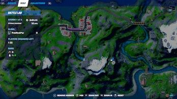 fortnite week 10 alien artifact location 2 map