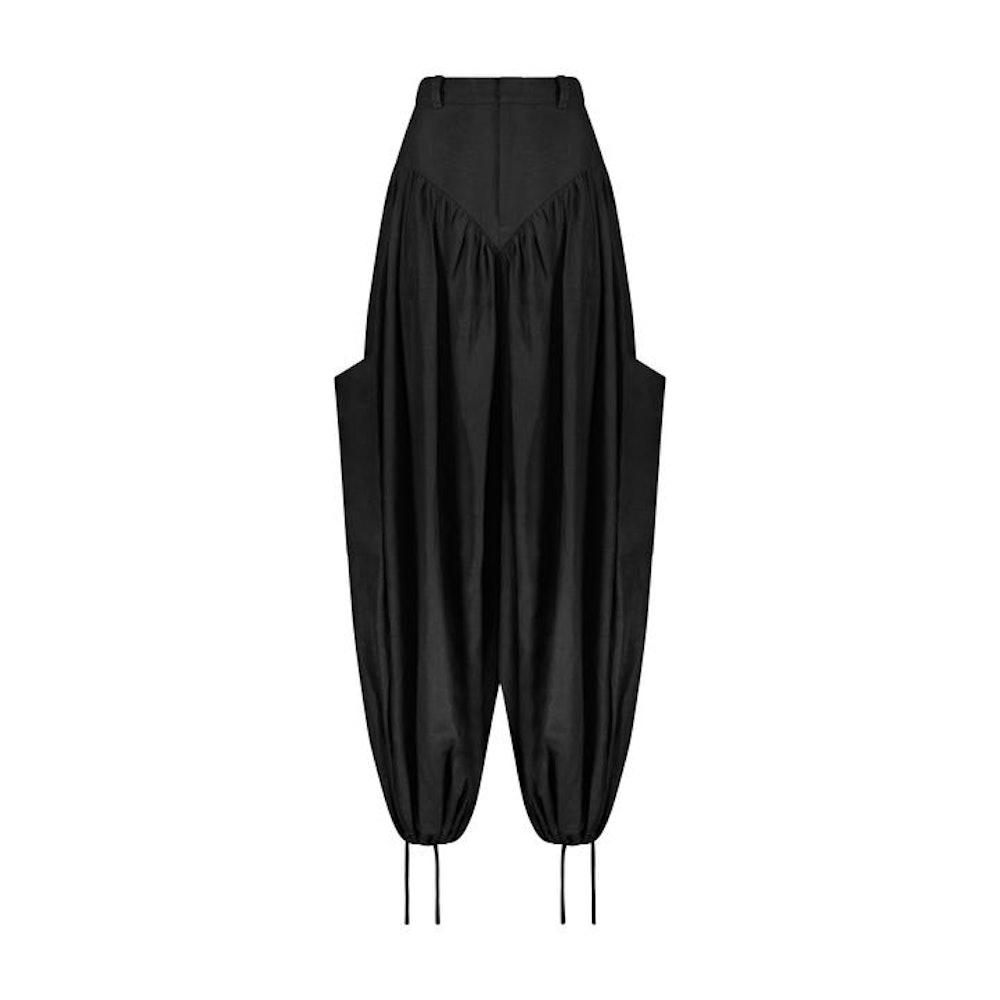 Black Cargo Panty Pant