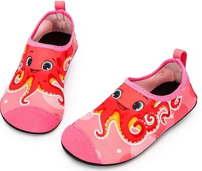 toddler aqua sock with octopus design