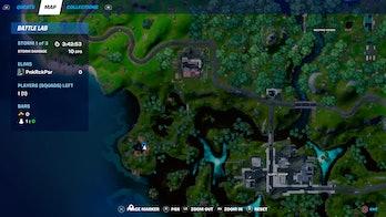 fortnite week 10 alien artifact location 5 map