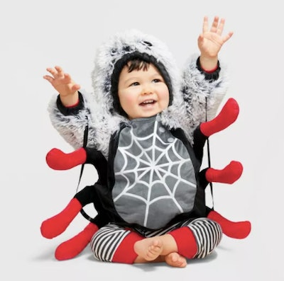 Baby dressed as a spider