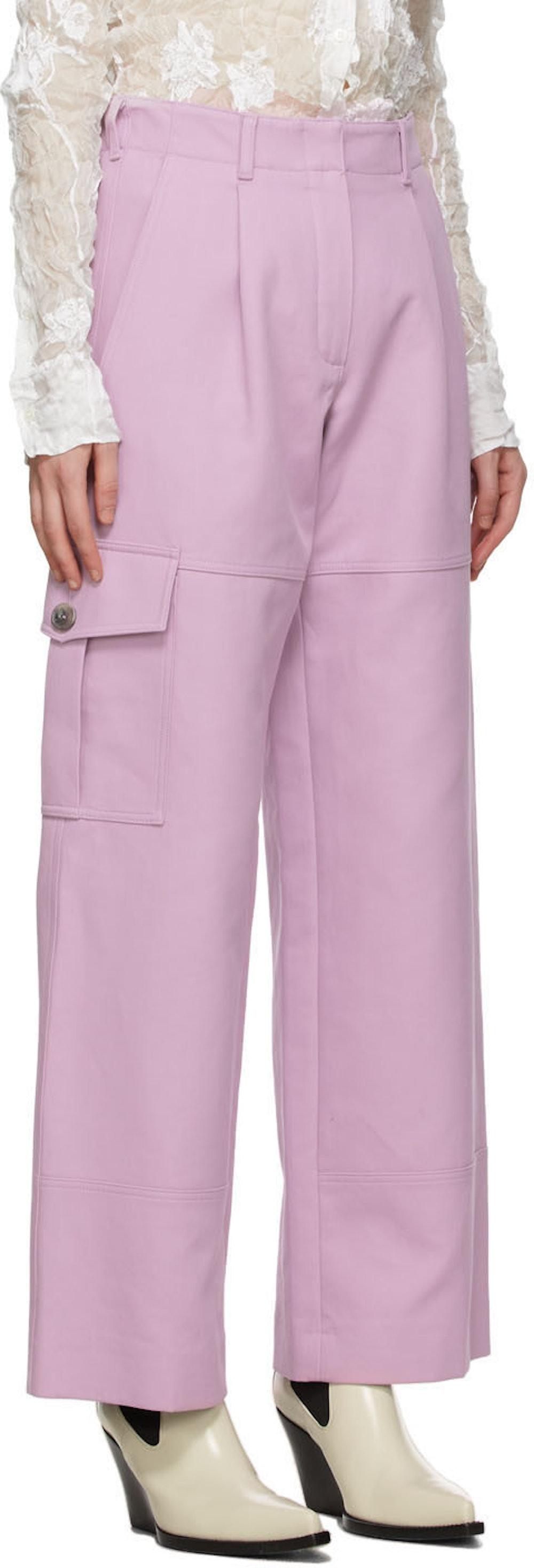Nina Ricci Pink Twill Cargo Trousers
