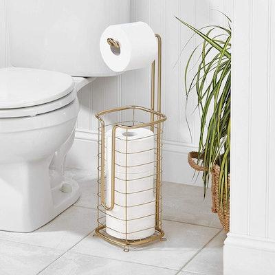 mDesign Standing Toilet Paper Holder