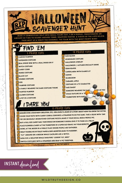 Halloween Scavenger Hunt For Teens & Adults