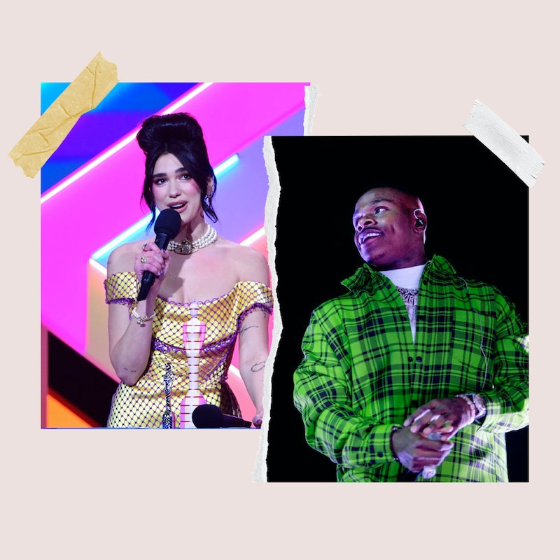 """Dua Lip and DaBaby, who collaborated on """"Levitating"""" together."""