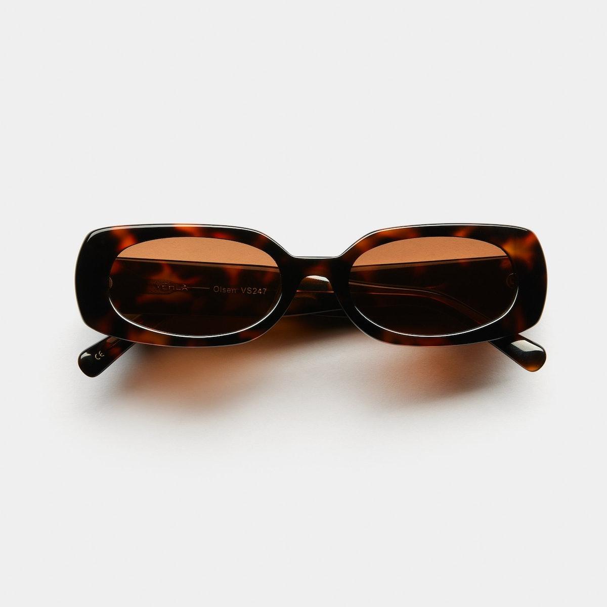 Olsen Sunglasses in Chocolate Tortoise from VEHLA eyewear.