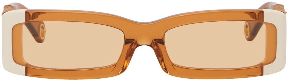 Orange 'Les Lunettes 97' Sunglasses from Jacquemus, available to shop on SSENSE.