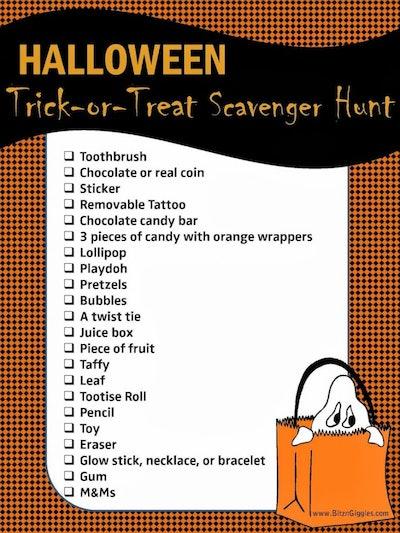 Trick-Or-Treat Scavenger Hunt