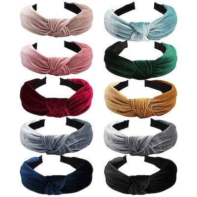 ANBALA Knotted Headbands (10-Pack)