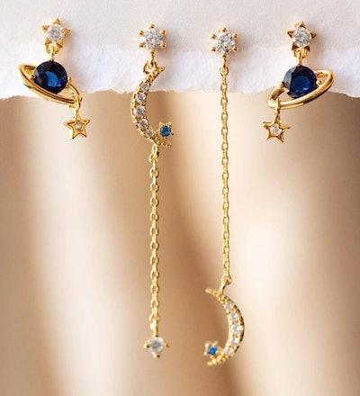 Girls Crew Sapphire Twilight Earring Set