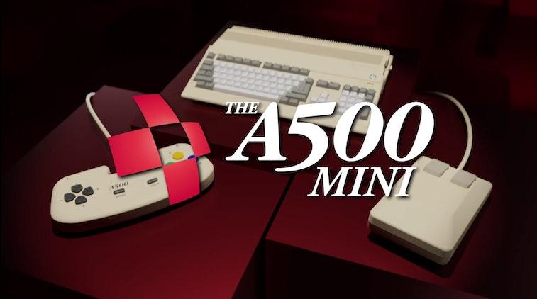 Screenshot from ad for Retro Games Ltd. THEA500 Mini retro gaming system