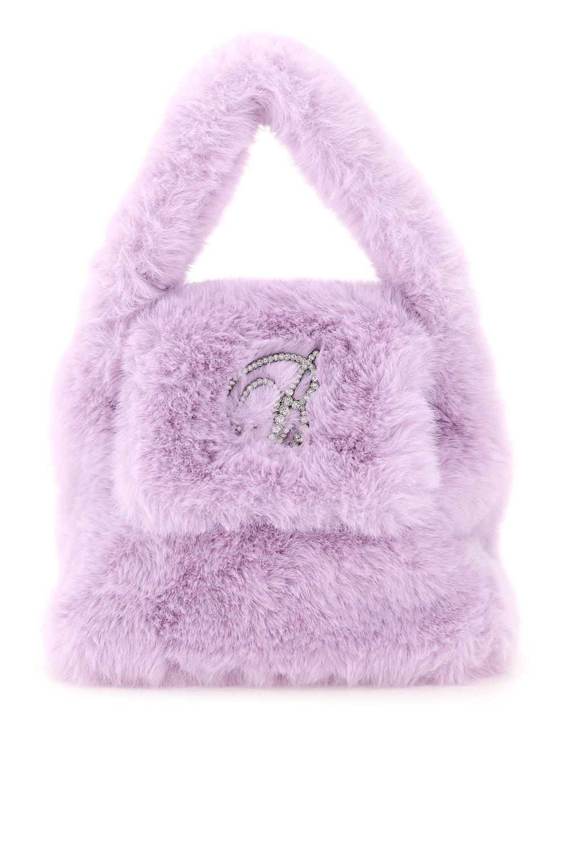 B Strass Faux Fur Bag