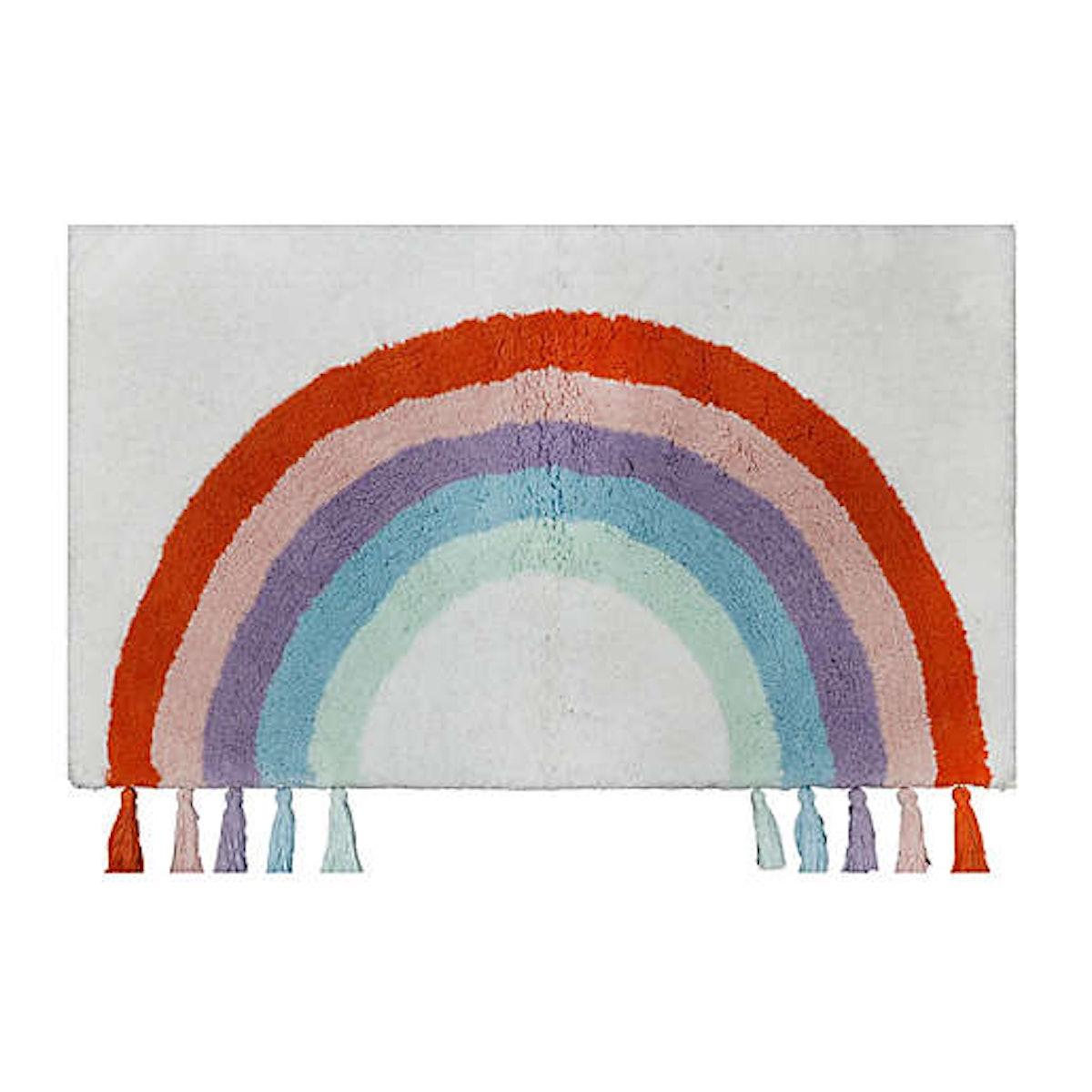 """Elise 33"""" x 20"""" Rainbow Tufted Bath Rug"""