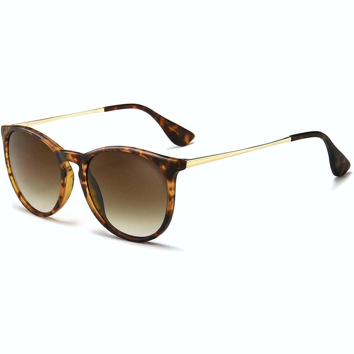 SUNGAIT Retro Round Sunglasses