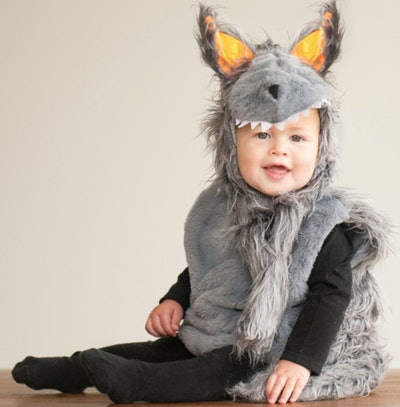 Baby wearing Big Bad Wolf Halloween costume