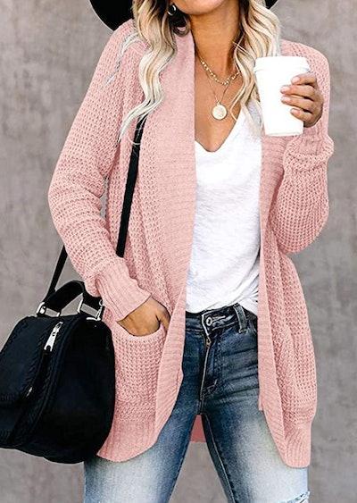 YIBOCK Chunky Knit Cardigan