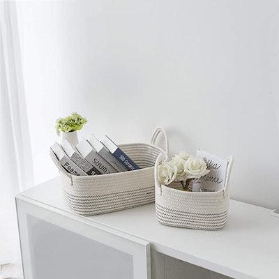 UBBCARE Cotton Rope Storage Baskets
