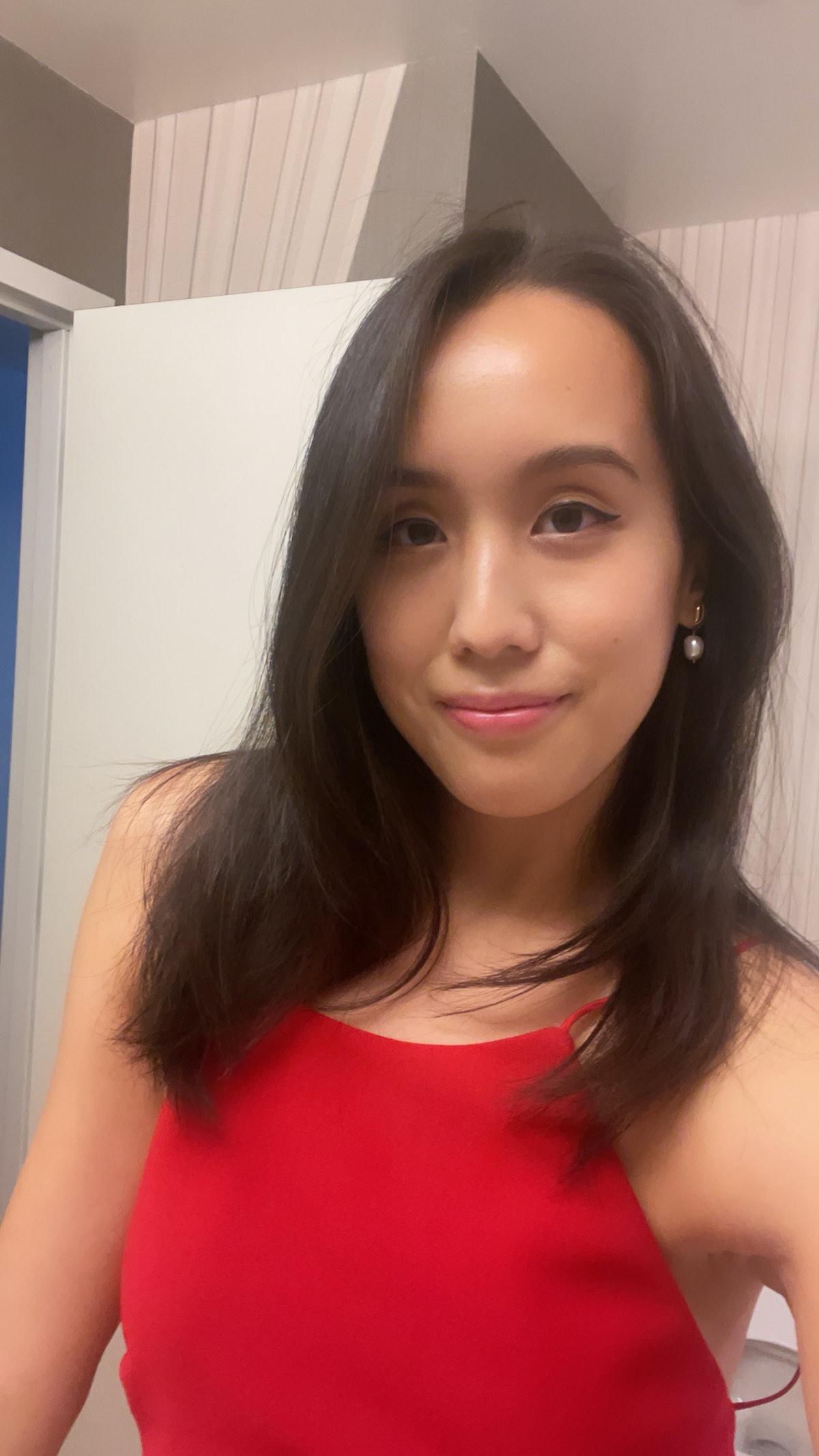 Marina Liao taking a selfie.