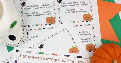 Halloween Scavenger Hunt With Printable Clues