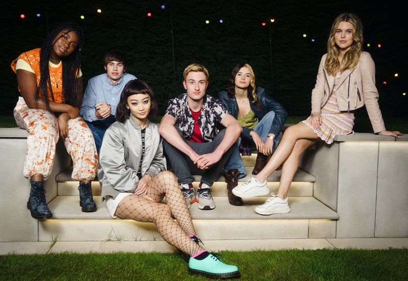 The cast of Tell Me everything, from left to right: Lauryn Ajufo as NEVE, Spike Fearn as LOUIS, Call...