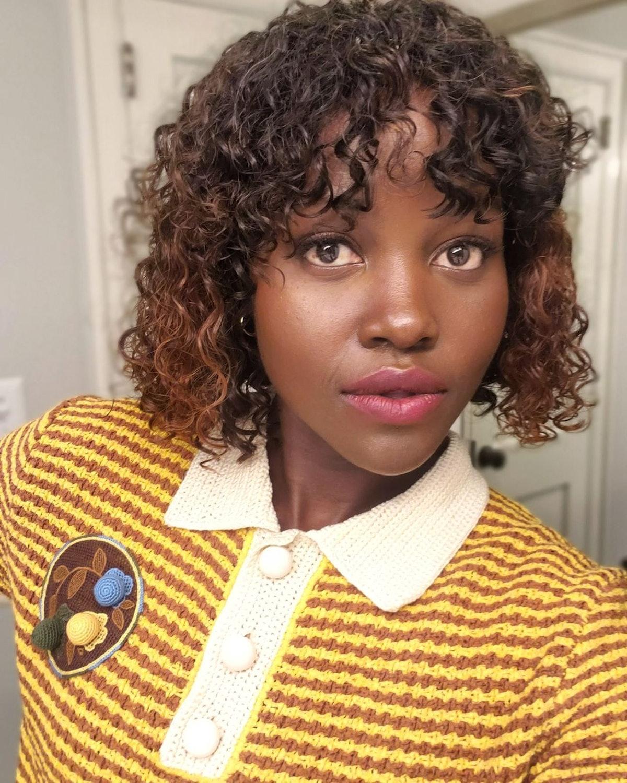 Lupita Nyong'o with bangs