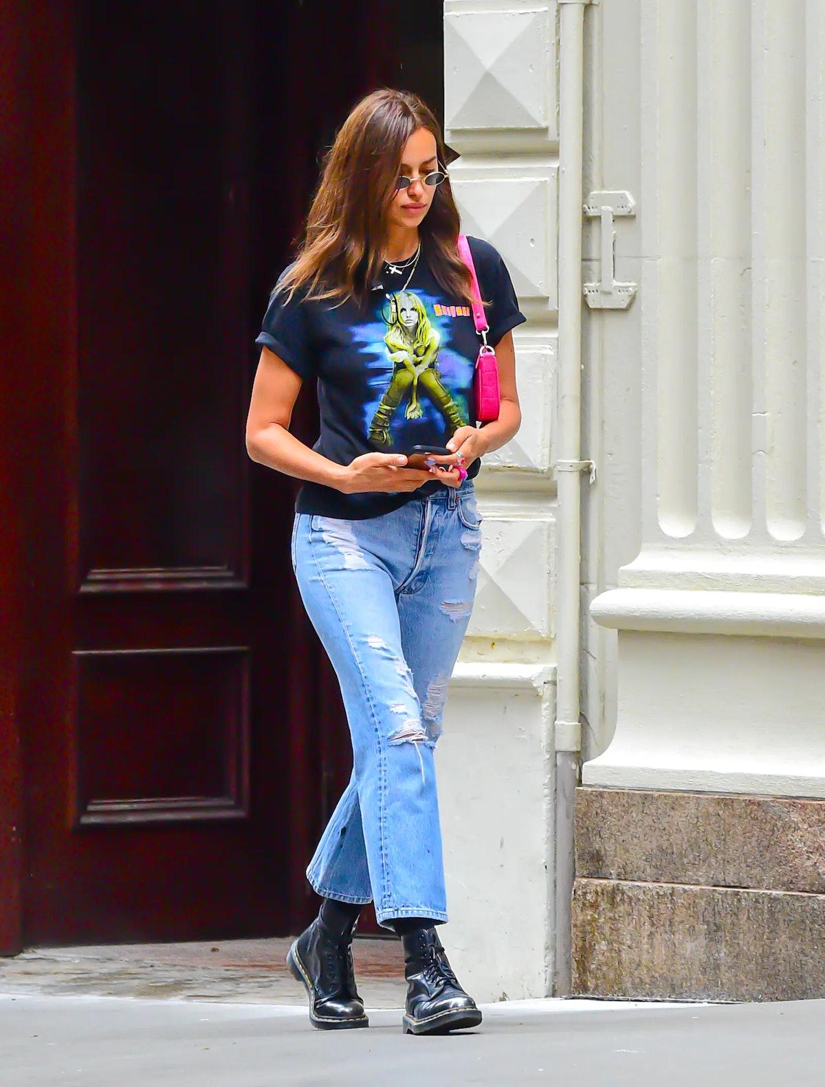 Irina Shayk in New York City.